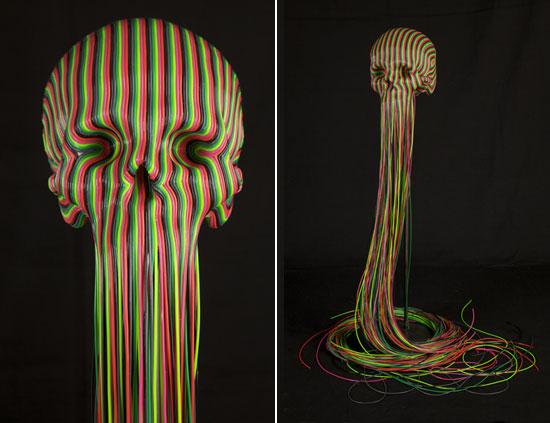 jim skull,caveiras,imagem caveira,skull sculpture,escultura de caveira,underconstruction blog,caveira colorida,caveira mexicana