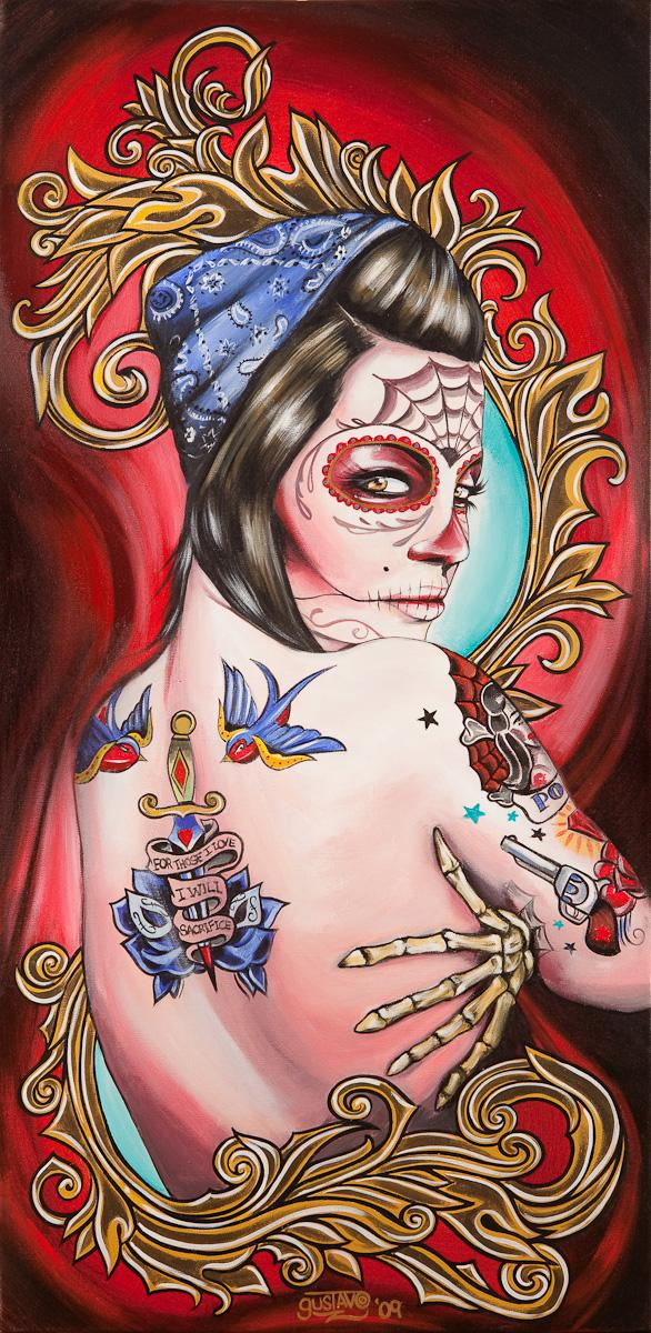 pin up,calaveira,caveira,imagens de caveira,desenho,tattoos e caveiras, skulls, skulls and tattoos,drawing, illustrations, skull images, oriental,desenhos,gustavo rimada,underconstruction blog