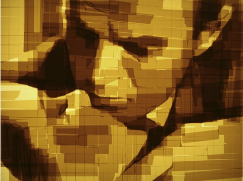 mark khaisman,scotch tape art,arte com fita adesiva,underconstruction blog,arte,arte pixelizada