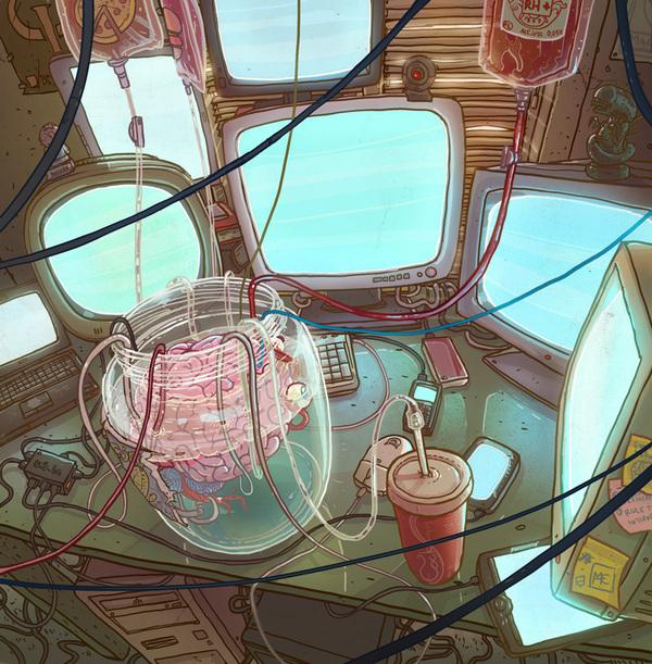 ilustracao,desing grafico,michael dziekan illustration portfolio,illustration,ironic,street, top draw,under construction blog,brain
