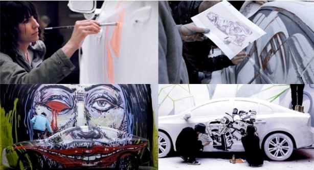 volvo art session,live street art,zurich,arte de rua,grafitando carros,underconstruction blog