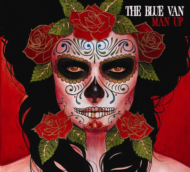The blue van band album man up, cd cover the blue van by silvia ji