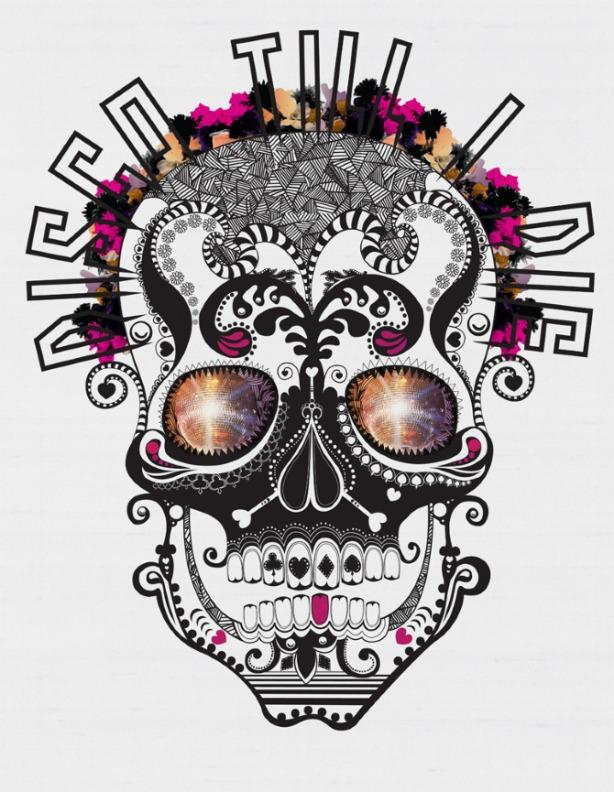 victoria topping ilustraçoes e colagens inspiradas em música, dj art work,imagens de caveiras,caveiras,imagem de caveira,skull images,colagem de caveiras, skull collage, skull illustration, voodoo art work, design gráfico inspirado em música,caveiras mexicanas, caveira mexicana colagem