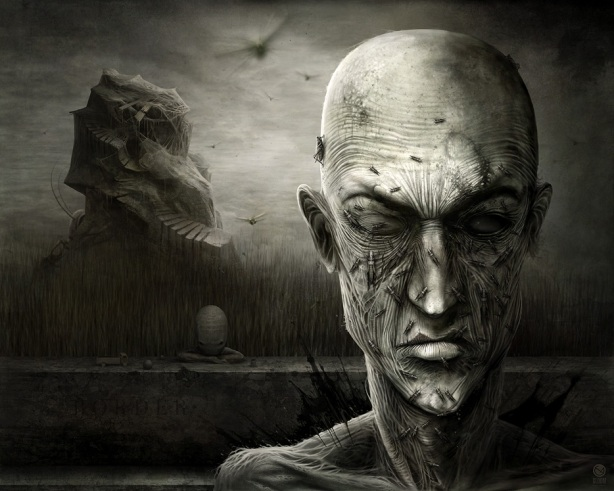 ilustrações sombrias e surrealistas de anton semenov, dark images, gothic ilustration, surreal, surrealista dark, imagens de tirar o sono, imagens de horror, ilustrações de horror, surrealismo moderno, anton semenov